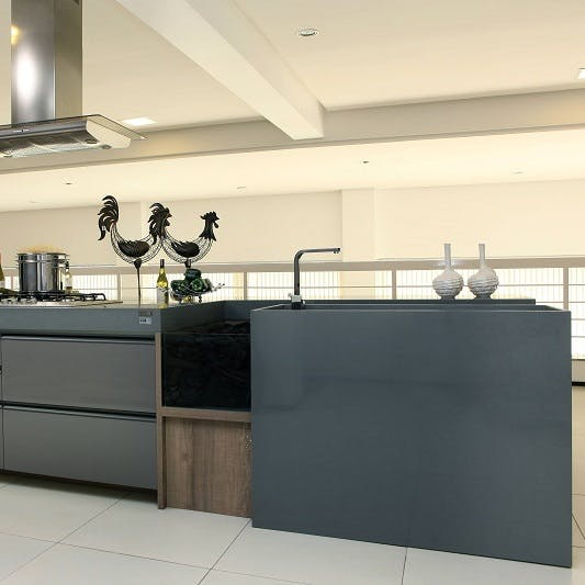 encimera cocina verde silestone steel 1 2 | Cosentino