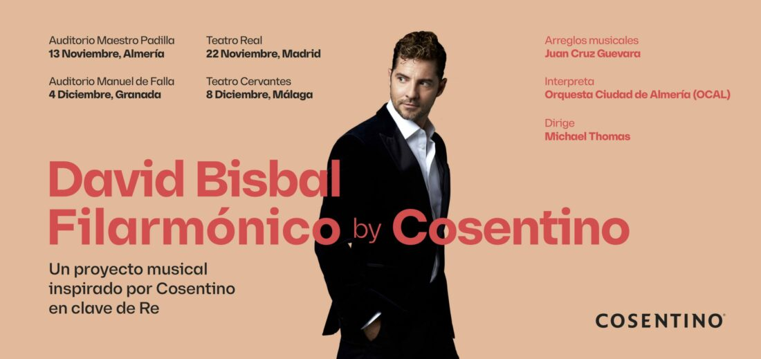 Cosentino and David Bisbal present an exclusive series of concerts